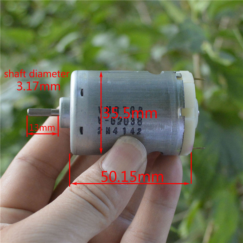 540 DC motor, 6V-12V DC carbon brush motor 10000 - 20,000 rpm/min For five-stage rotor Hand-made vacuum cleaner