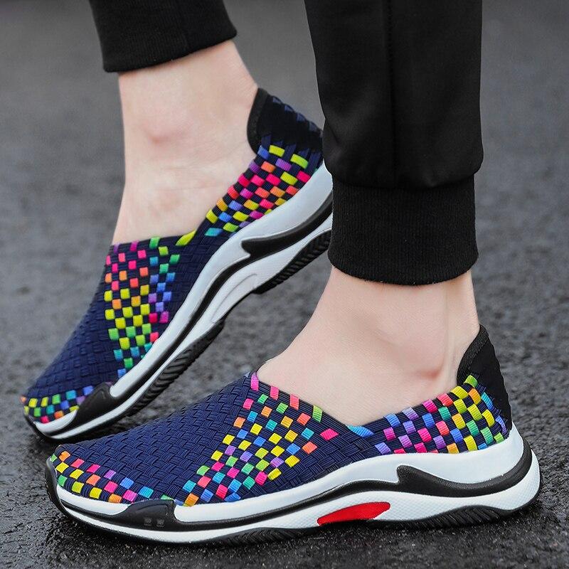 LAOCHRA Mens Handmade Slip On Sneakers INS Trend Popular 2018 Belia - Kasut lelaki