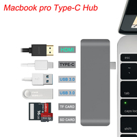 USB Hub for Macbook Pro USB C Hub 3.0 HDMI Type C Hub USB 3.0 Splitter Adapter TF Micro SD Card Reader for imac