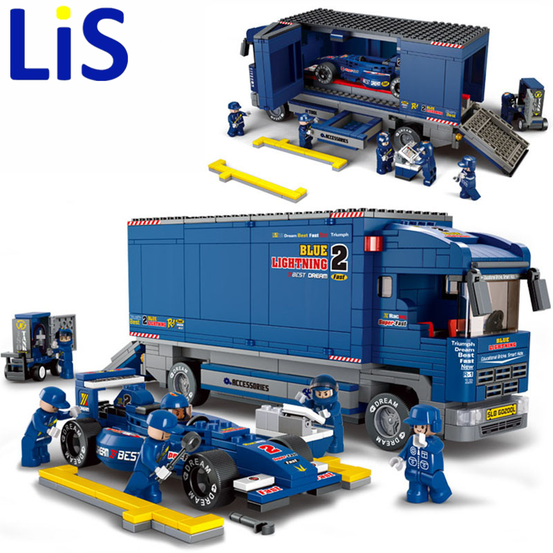Lis Sluban Racing Truck Formula Car B0357 Building Block Sets 641pcs Educational DIY Jigsaw Construction Bricks toys SA703 badger i listening b1 intermediate cd