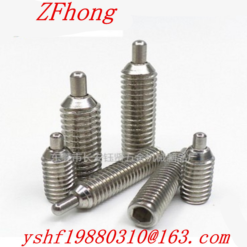 10PCS M3 M4 M5 M6 M8 M10 M12 Hex Socket spring loaded pin plunger stainless steel 304 304 stainless steel spring ball plunger screw hex socket set screws m3 m4 m6 m8 m10 m12 m16 ball spring plunger positioning bead