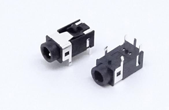 100pcs Phone Jack 3.5mm 5 pin stereo audio socket for 4 poles earphone plug through hole DC30V 0.5A