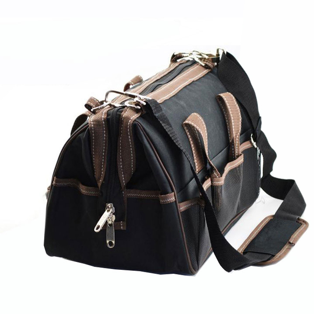 17 39x21x28cm Multifunctional Electrical Bag Tools Case Oxford Electrician Canvas Tool Toolkit
