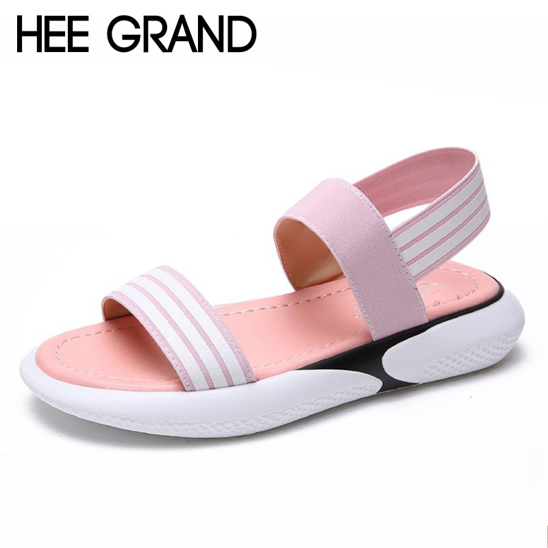 HEE GRAND 2018 New Summer Flats Thong Sandals Woman Causal Flat With Flip Flops Toe Strap Mujer Shoes Sandals XWZ4994