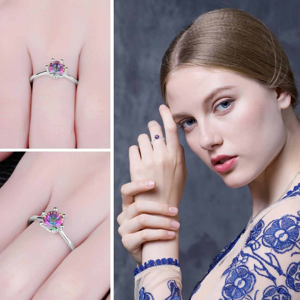 JewelryPalace mistik yanğın göy qurşağı topazları üzük - Moda zərgərlik - Fotoqrafiya 3