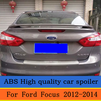 For Ford Focus Spoiler High Quality ABS Material Car Rear Wing Primer Color Rear Spoiler For Ford Focus Spoiler 2012 2015