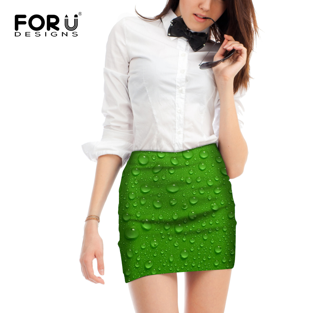 FORUDESIGNS Skirt Women Water Skirts Summer Style Stylish Above Knees Short Skirt Femme Vogue Official Business Large Size M L in Skirts from Women 39 s Clothing