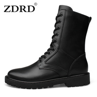 2016 New Arrival Men Boots 100 Genuine Leather Army Boots Military Desert Boots Shoes Breathable Men