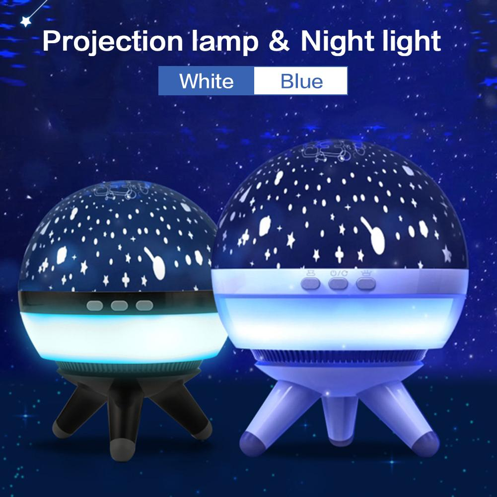 Baby Sleeping Lamp Bedroom Bedside Innovative Night Light Rotary Projection Starry Sky Home Decoration Light Holiday Gift