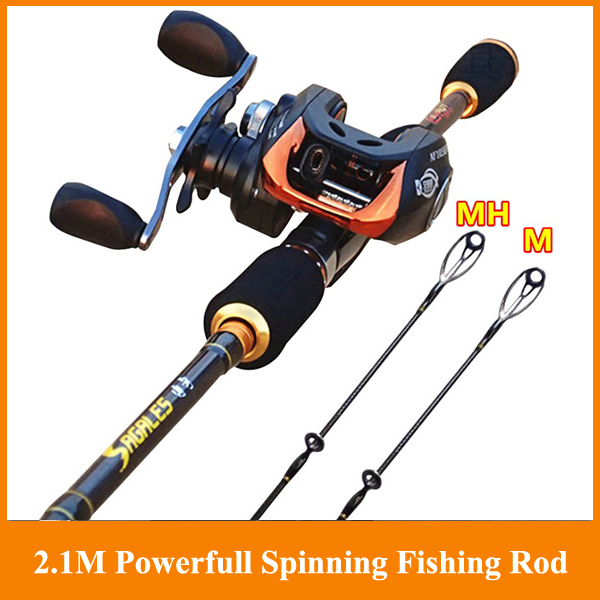 Free Shipping By EEMS 2.10m spinning fishing rod sea rod super hard casting Bait Casting Carbon Spining Fishing Lure Rod