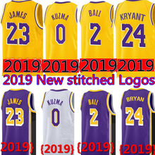 464ba8215ff 2019 New 23 LeBron James 0 Kyle Kuzma JERSEY Mens 2 Lonzo Ball 14 Brandon  Ingram 24 Kobe Bryant JERSEYS