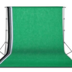 Image 2 - Фон для фотосъемки 4 шт. 1,6x3 м зеленый экран Chroma Key для фотостудии нетканый 4 цвета белый черный зеленый серый