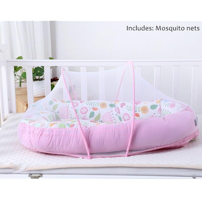 Bébé Alcofa nid lit Portable lit de voyage lit infantile enfant en bas âge coton berceau Portable nacelle pour nouveau-né bébé couffin pare-chocs - 2