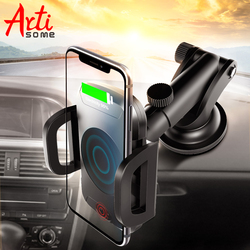 Artisome Car Phone Holder For iPhone X Charger Car Mount For Samsung S8 S9 iPhone 8 Plus Qi Wireless Car Charger Infrared Sensor