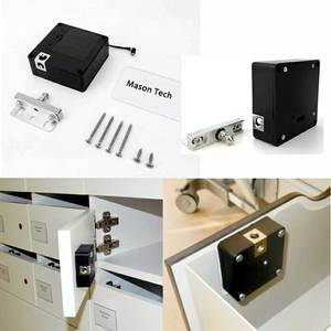 Image 2 - Smart Electronic Hidden RFID Cabinet Lock No Hole Easy Installation Furniture Locker Wardrobe Shoe Cabinet Drawer Door Lock With Two Cards/Keytags