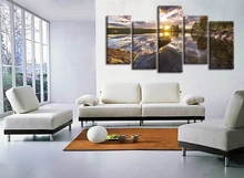 HOT Sales 5 pieces framed Wall Art Picture Home Decoration Canvas Print painting beautiful printed oil paintings landscape WY20