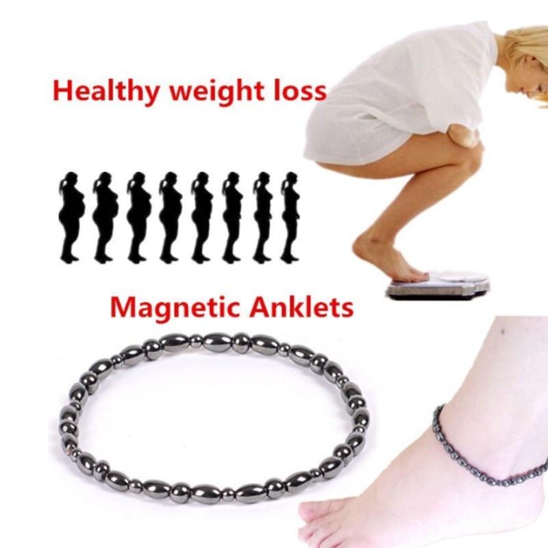 Hematite Stone Weight Loss Anklet Bracelet Healthy Slim Anklet Lady HC