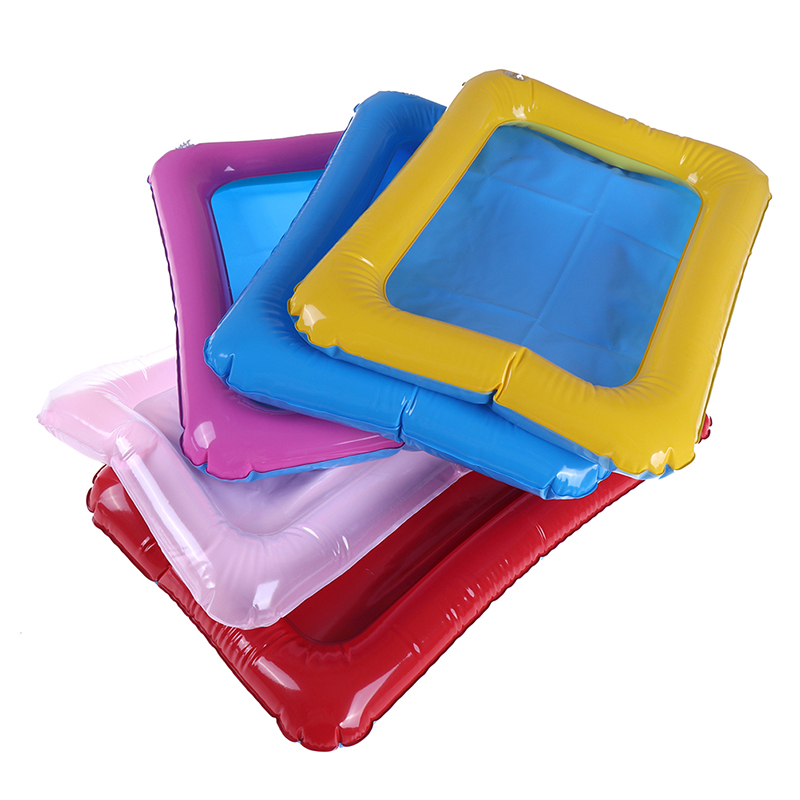 32x25cm/45x32cm Mars Space Inflatable PVC Sand Tray With Plastic Mobile Table Indoor Magic Play Sand Children Toys Random Color