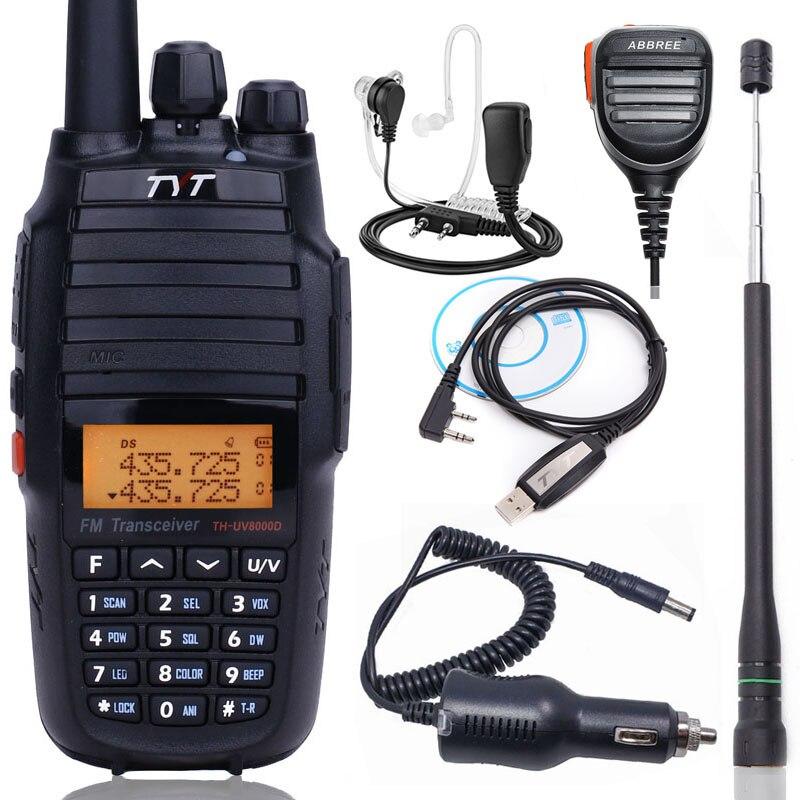 Mise à niveau Version TYT TH-UV8000D 10 Watts Croix Bande Répéteur Talkie Walkie 3600 mAh VHF UHF Double bande radio amateur TYT UV8000E