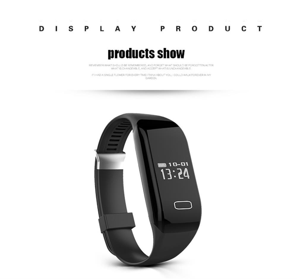 MOCRUX Smart Wristband Bracelet H3 Smartband IP68 Waterproof Heart Rate Monitor FitnessActivity Tracker Smart Watch Call Alarm  (16)