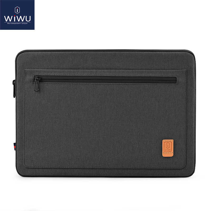 Bolsa para notebook wiwu impermeável, capa portátil com alça para notebook 13.3 14.1 15.4 16 macbook air 13 macbook pro 13 16 2019