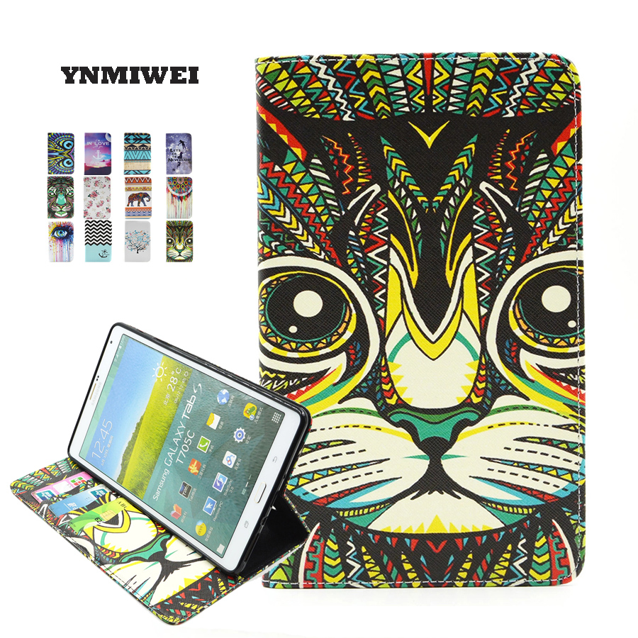 SM-T700 / T705 8.4 Inches Tablet Cases For Samsung Galaxy Tab S 8.4 PU Leather Anime Cartoon Painting Shockproof Tablet Cover luxury flip case for samsung galaxy tab s 8 4 case t700 t705 flip cover pu leather case for samsung galaxy tab s t700 t705 t705c