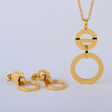 2017 New Jewelry Sets Nigerian African Necklace Earrings Women Wedding Party Accessories