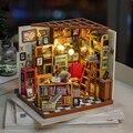 Набор миниатюрных моделей по дереву Robotime  сделай сам  кукольный домик  сам  для учебы  украшения  подарок на день рождения для девочек
