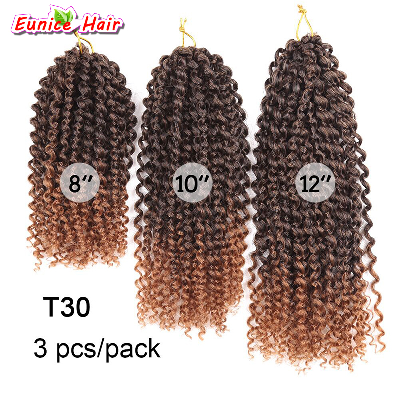 8-12inch 3pcs/pack Mali bob Ombre Burgundy T30/27/Bug Marly braid Synthetic Braiding hair Malibob Crochet Hair extensions