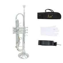 Высокое качество Bb труба B плоская прочная Латунная Труба с посеребренным мундштуком пара перчаток и изысканная сумка