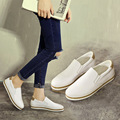 Women spring shoes casual shoes  2017 spring shoes women flat leather shoes