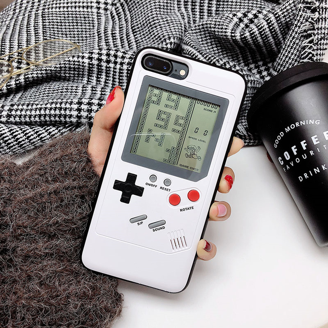 check out 1cb66 2b9a6 US $13.64 9% OFF|Really Can Play Retro GB Gameboy Tetris Phone Cases for  iPhone 6 6S 7 8 Plus Soft TPU Blokus Game Cover For Iphone X Capa-in ...