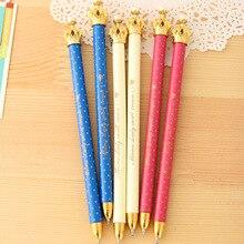 48 قطعة تاج أقلام الكرتون باستيل الأزرق الحبر Kawaii هدية النفط الحبر الأقلام الأقلام للكتابة لطيف القرطاسية مكتب اللوازم المدرسية