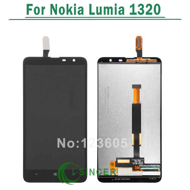 1/PCS Black For Nokia Lumia 1320 LCD Display Screen touch Digitizer Assembly Replacement +Free Shipping