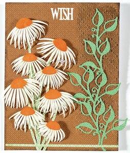 Image 2 - Matrices de découpe en métal artisanal, moule de découpe, 8 pièces décoration florale, Scrapbook, papier artisanal couteau, moule de lame, pochoirs