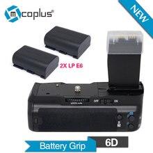 Mcoplus BG-6D Vertical Battery Grip Holder with 2pcs LP-E6 batteries for Canon EOS 6D Camera DSLR Replace as BG-E13 Meike MK-6D
