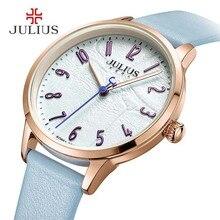 Ventes chaudes montre femmes horloge robe montre Julius Marque Designer New Relojes Mujer En Cuir quartz-montre-bracelet des femmes montre cadeaux