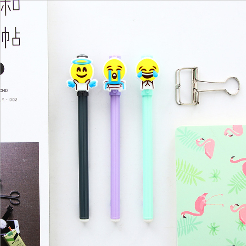 5pcs lot Cartoon bean sprouts gel pen black ink gel pen Kawaii Office material escolar School Stationery Marker for Kids Gifts in Gel Pens from Office School Supplies