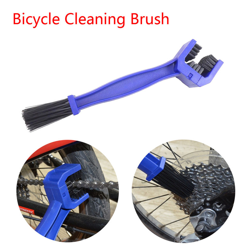 Portable Bike Chain Cleaner Scrubber Machine Brushes Cleaning Tool for Riding