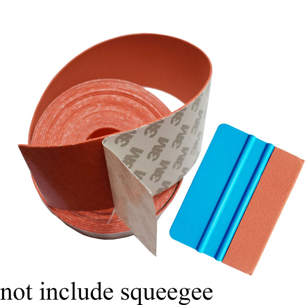 5M Long 5CM Width Suede Cloth Felt Edge Tape For Card Squeegee Carbon Fiber Scraper Vinyl Film Car Wrap Window Tints Tool A18 5M in Sponges Cloths Brushes from Automobiles Motorcycles