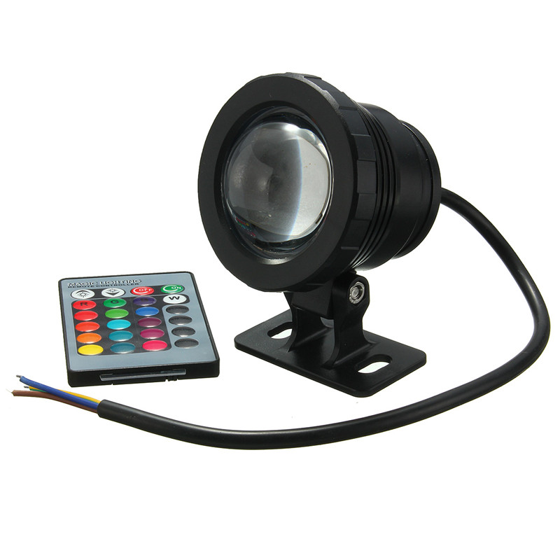 Ac85-265v/dc12v Waterproof Underwater Lamp Ip68 Rgb Led Underwater Light Fountain Pool Pond Spotlight Lamp W/ Remote Control 5w Making Things Convenient For The People Led Lamps Led Underwater Lights