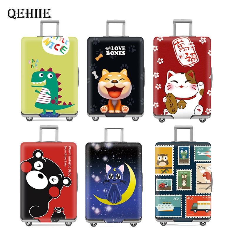 Luggage cover Elastic travel trolley suitcase  protective Baggage cover Cartoon suitcase cover Child Cartoon Travel AccessoriesLuggage cover Elastic travel trolley suitcase  protective Baggage cover Cartoon suitcase cover Child Cartoon Travel Accessories