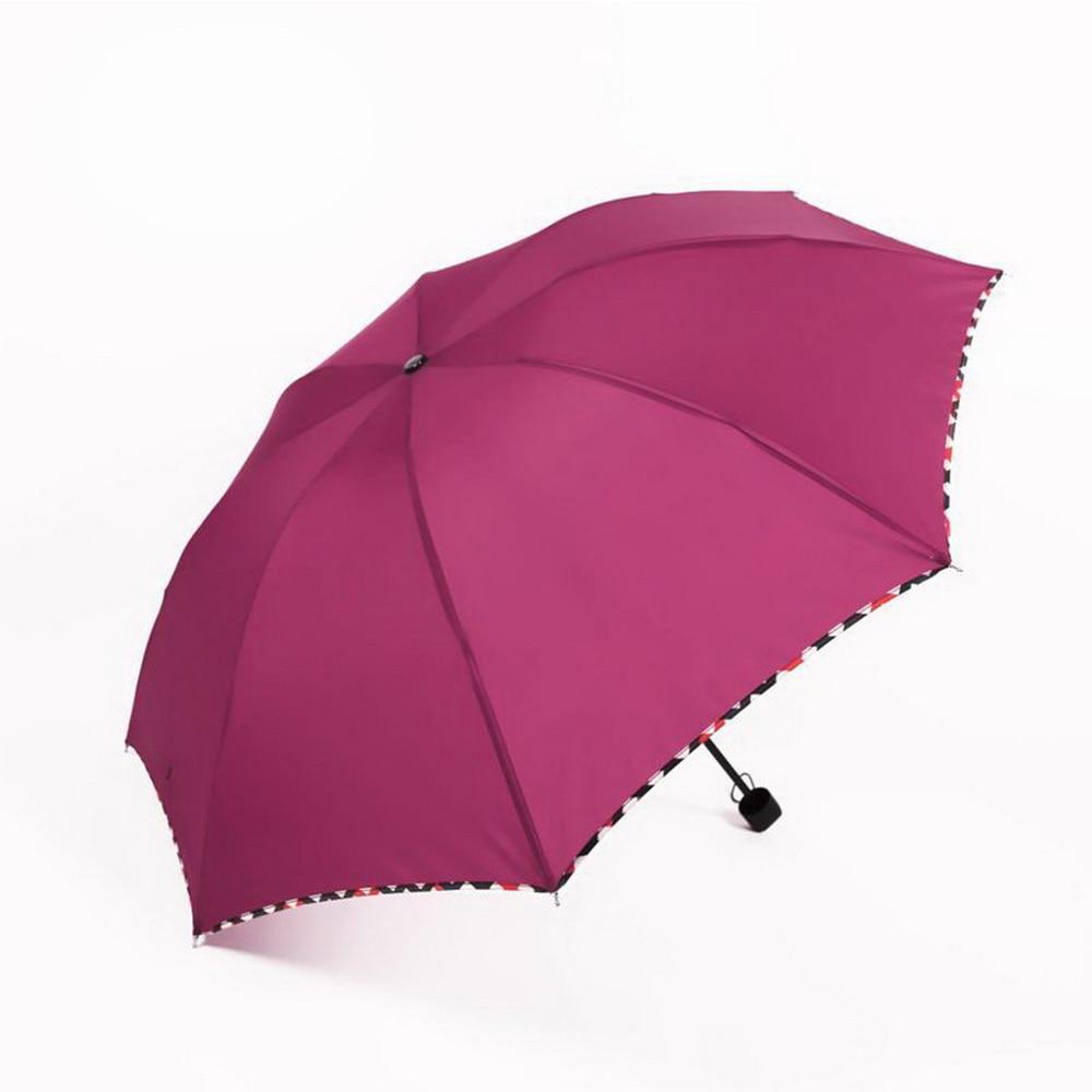 Sunny Umbrella 8 Clash Reinforced Lattice Package Edge Three Fold Business Affairs Can Umbrella JJ-YS52