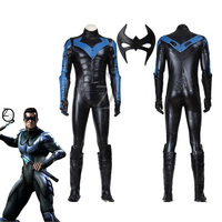 Хэллоуин косплей костюм Бэтмена Arkham City костюм Nightwing костюм для взрослых мужчин супергерой Бэтмен Косплей Костюм на заказ