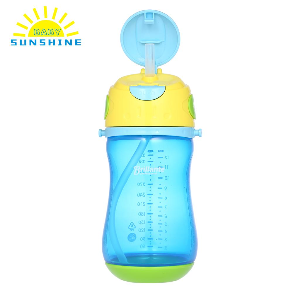 Haierbaby brillante child sippy cup trainer transition bottle learner cup non slip with draw detachable strap bpa free 350ml in cups from mother kids on