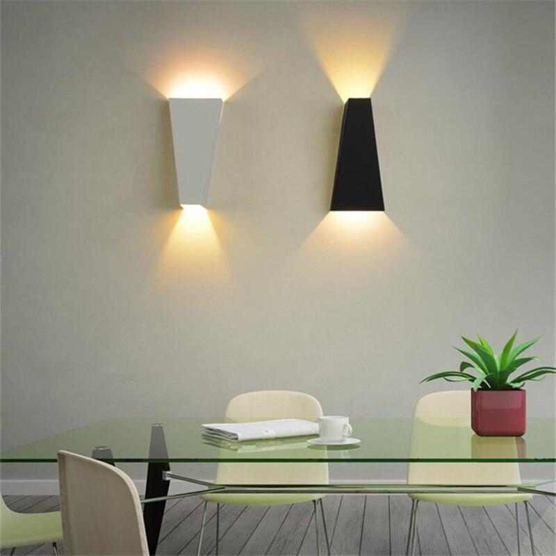 Branco/Preto Nordic Lâmpada de Parede Espelho Do Banheiro Luminárias Decoração Sala de estar de Design Moderno Levou lâmpada de Leitura Lâmpada WLL 317 - 5