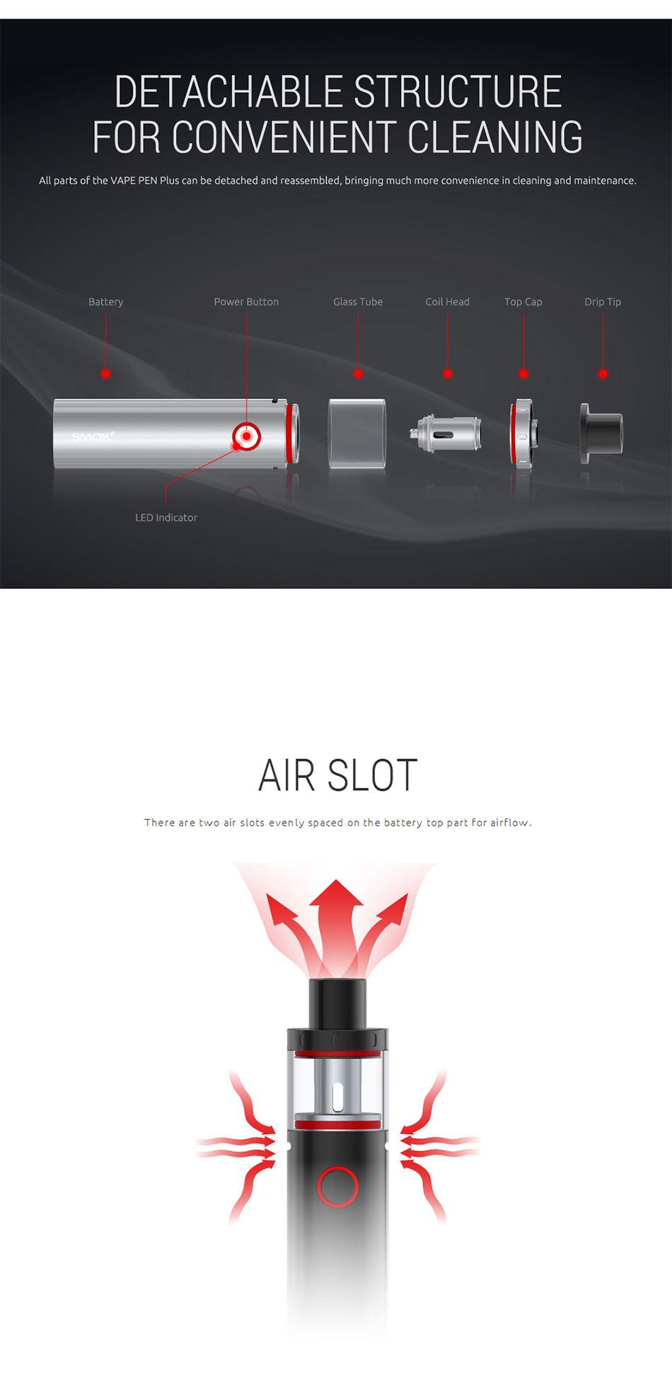 Original SMOK Vape Pen Plus Starter Kit with 3000mAh Built-in