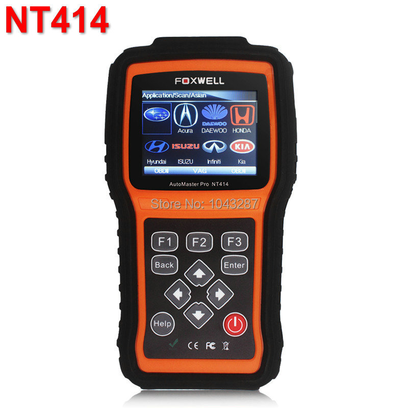 Foxwell NT414 Four System Diagnosis Scan Tool Engine ABS Airbag Reset Universal Automotive Scanner Cheap than