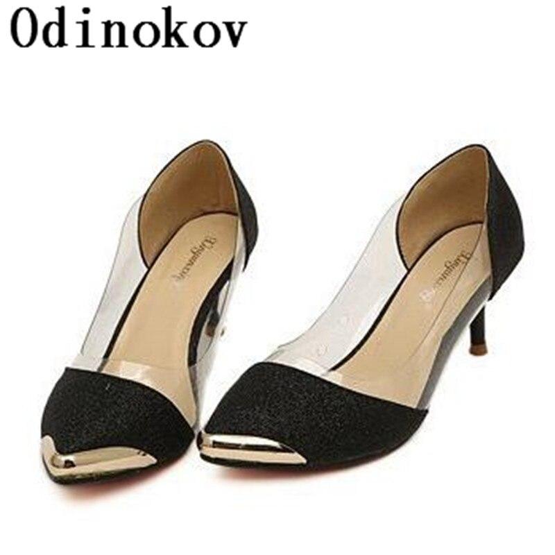 SuperModel Beautiful Fashionista Shoe Store Odinokov 2017 semelle rouge low heel shoes gold heels red glitter high heels red bottom high heels chaussure femme semelle rouge