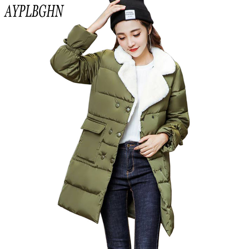 Womens Winter Jackets And Coats 2017 Thick Warm Down Cotton Padded Parkas For Women's Winter Long Jacket Female Coats Plus size